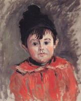 High quality Oil painting Canvas Reproductions Portrait of Michael with Hat and Pom P with By Claude Monet Painting hand painted
