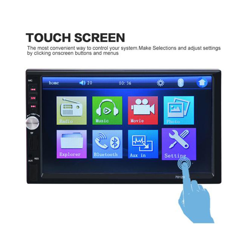 Camera Radio Bluetooth Stereo Car-Touch Universal Double-Din 7inch FM In-Dash MP3 AUX