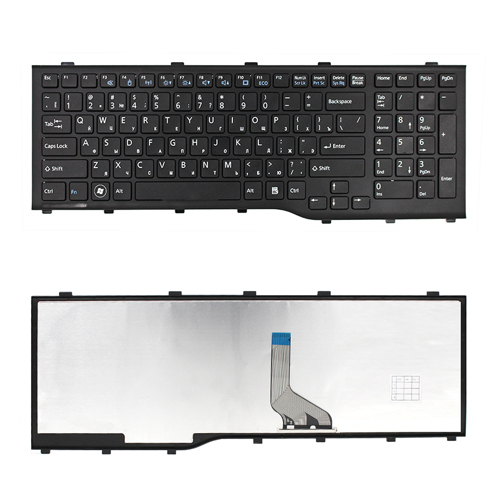 For Fujitsu AH532 A532 N532 NH532 RU Russian Black laptop keyboard with black frame laptop keyboard for msi ge60 black fs farsi with black frame