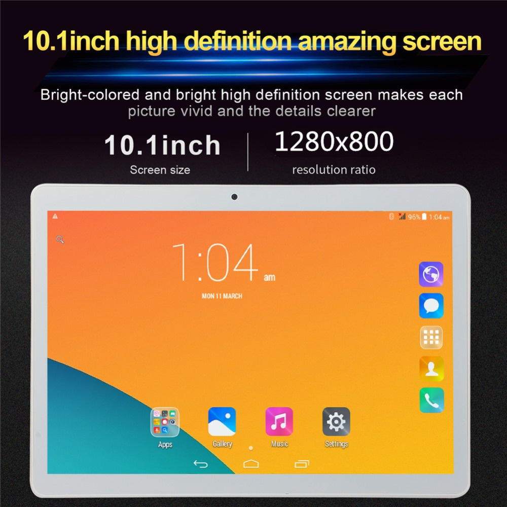 2019 pillbox The Tablet PC T805C 10.1 Android 6.0 Quad Core 32GB ROM Dual SIM 10 inch laptop Google WIFI GPS bluetooth 5MP