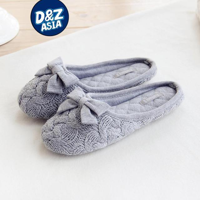 office new knit bow slipper household slippers interior non slip