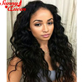 Фронта шнурка Человеческих Волос Парики 250% Высокой Плотности Полное Кружева Человека волосы Парики Для Черные Женщины Малазийский Свободная Волна Парик Фронта Шнурка парики