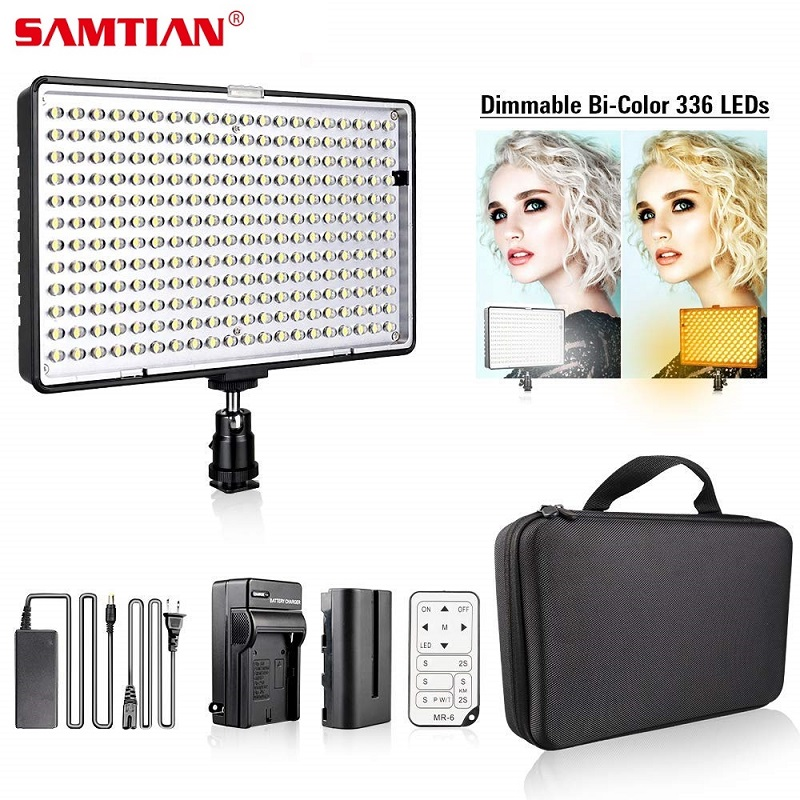 SAMTIAN Video Light TL-336AS 336Pcs LED Panel Light Dimmable Bi-color LED Video Light For Studio Photography Light Video u pouch design color block splicing letters print men s boxer brief