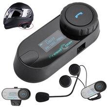 1 шт. 2017 TCOM-SC BT Bluetooth мотоциклетный шлем Интерком домофонных гарнитура с ЖК-дисплей экран + FM радио Бесплатная доставка