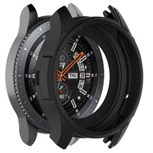 цены Silicone Soft Shell Protective Frame Case Cover Skin For Samsung Galaxy Watch 46mm Gear S3 Frontier