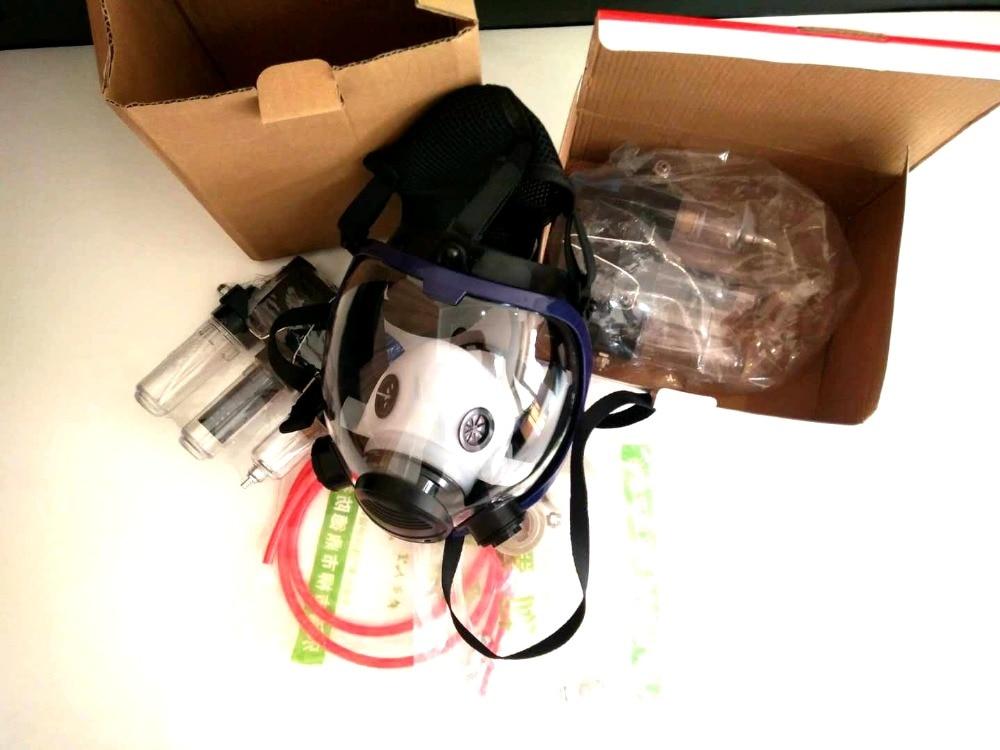 3 в 1 6800 функция поставляемая воздухом индустрия респиратор система полное лицо противогаз Респиратор маска от пыли - 5