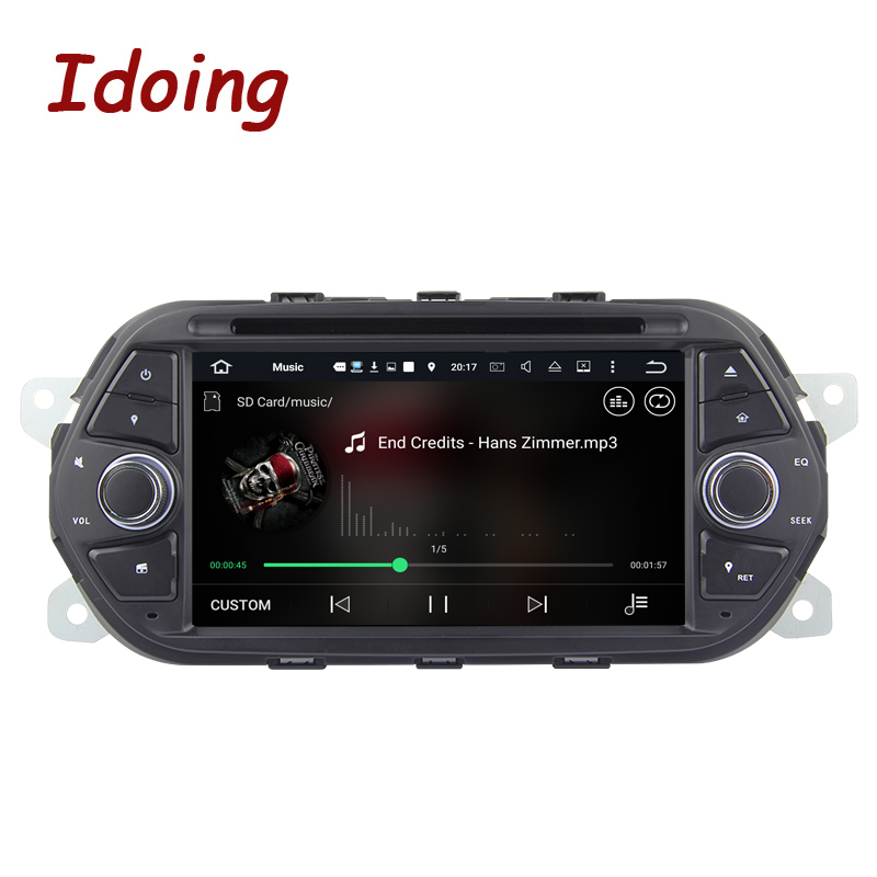 Idoing Android 7.1 2G+16G 4Core Steering Wheel 1 Din For Fiat Aegea/Tipo/Egea Car Video Multimedia Player Fast Boot Wifi GPS 3G