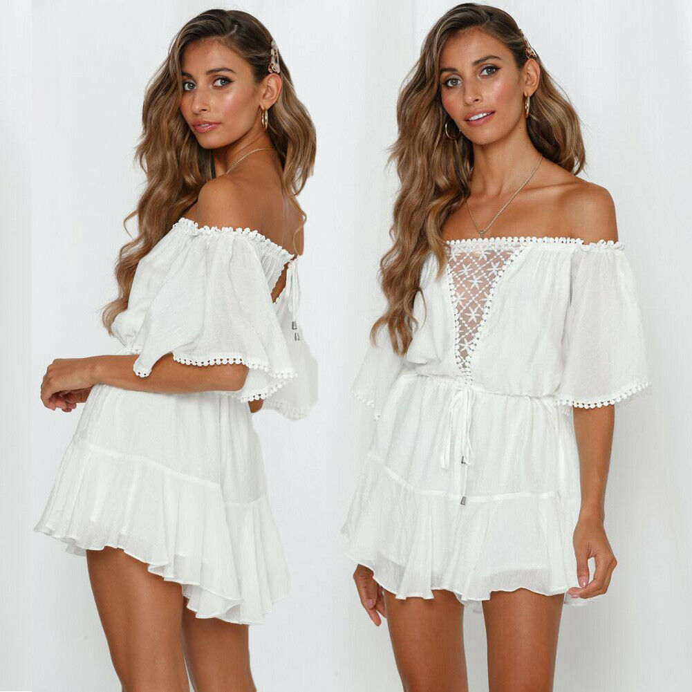 Womens Boho Jumpsuit Playsuit Romper Summer Bodycon Party Beach Shorts NEW