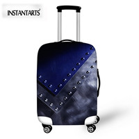 INSTANTARTS Cool 3D Solid Pattern Luggage Protective Covers Thick Elastic Trolley Suitcase Dust Cover For 18