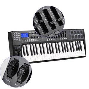 Image 3 - PANDA49 clavier pour contrôleur MIDI, 49 touches, 8 tambours, avec câble USB, blanc, rétroéclairage RGB