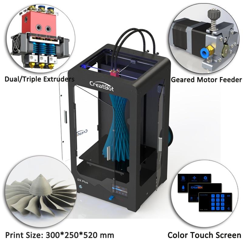 dual triple extruder metal frame desktop impresora 3d printer big - Office Electronics - Photo 5