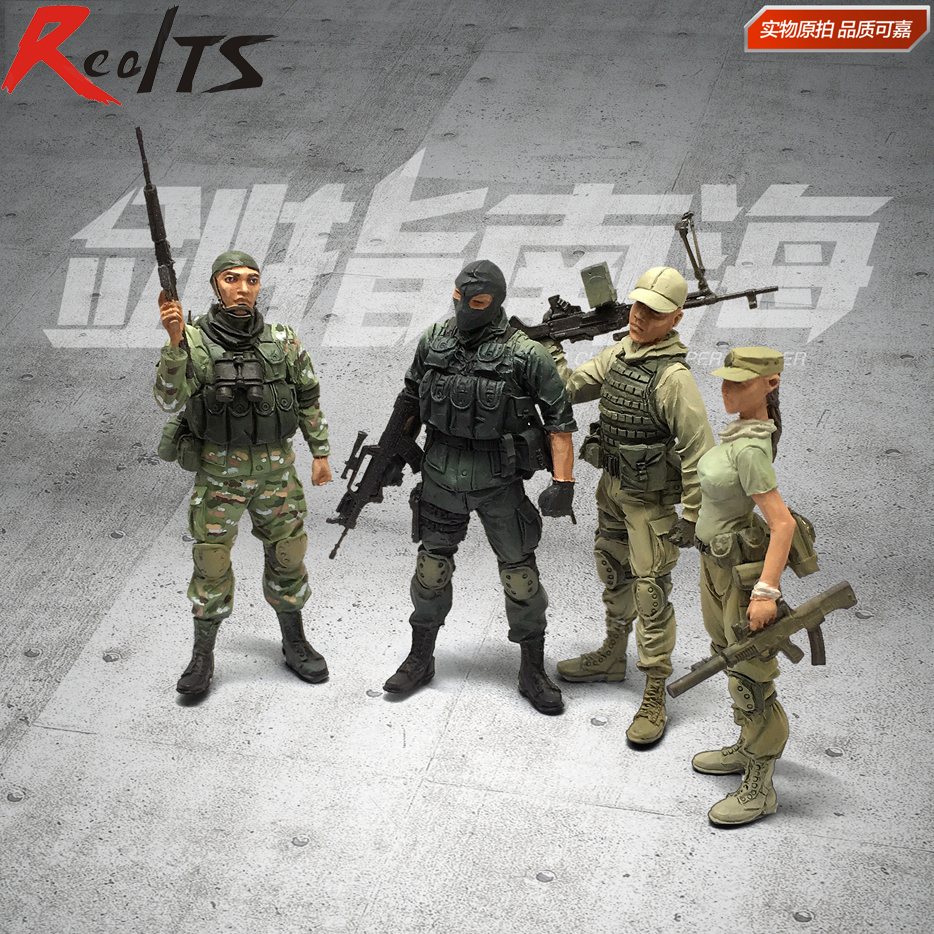 RealTS Resin soldier 1/35 resin figure china modern elite special warrior collection 4 figures