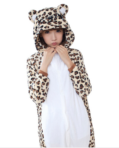 freepp Adult animal pajamas one piece cosplay Leopard Bear pajama onesie for adults costume animal pajama