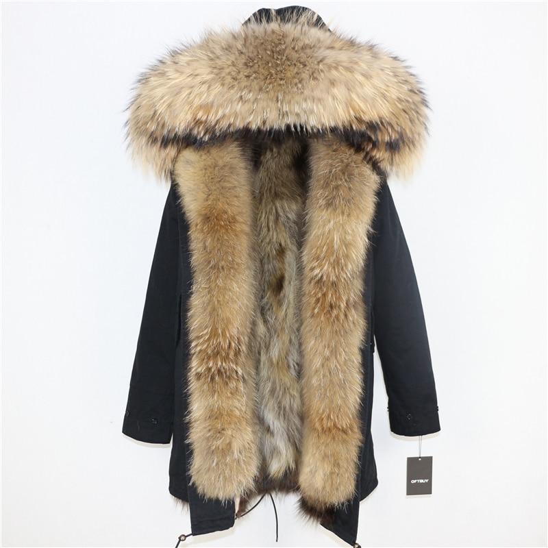 OFTBUY 2019 Winter Jacket Women Long Parka Real Fox Fur Coat Natural Raccoon Fur Collar Hood Thick Warm Streetwear Parkas New 63