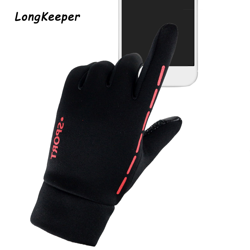 Unisex Full finger Touch screen Gloves Men Outdoor Sport Riding Cycling Elastic Force Gloves Keep Warm Non-slip Gloves Guantes
