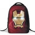 Nuevo Estilo Impermeable Iron Man Avengers Fresco Mochila de Dibujos Animados Los Niños Mochilas escolares Durable Bolsa de hombro Doble Para Niños