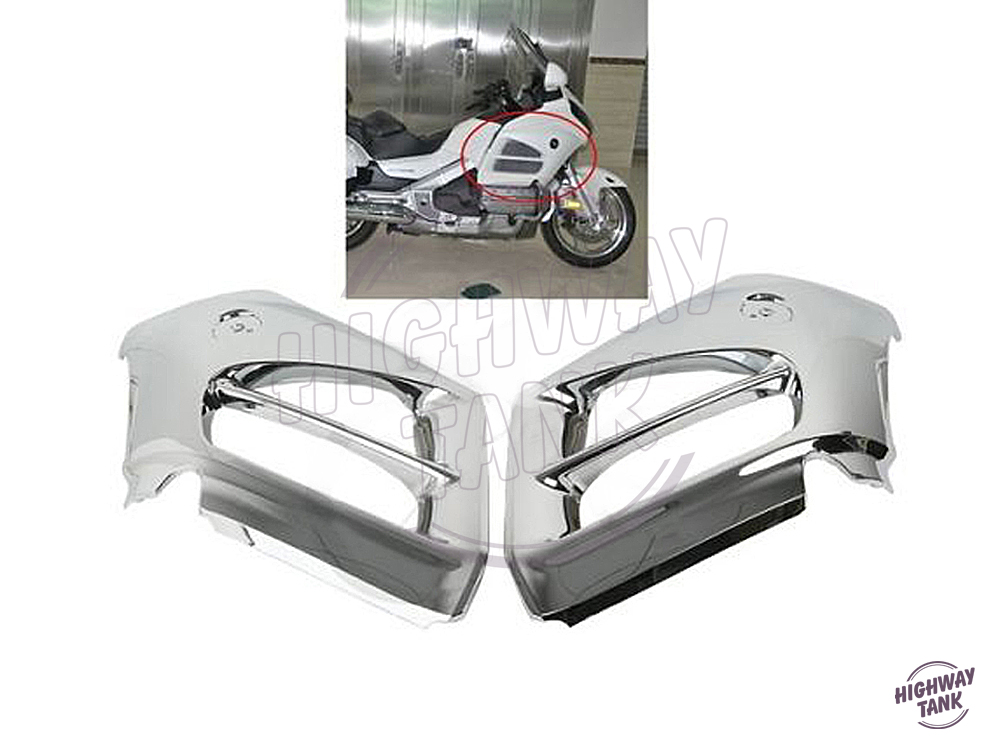 Chrome Motorcycle Mid Front Cover Fairing Moto Side Frame Decoration Shell case for Honda GL1800 Goldwing 2012 2013 2014 2015 unpainted white injection molding bodywork fairing for honda vfr 1200 2012 [ck1051]