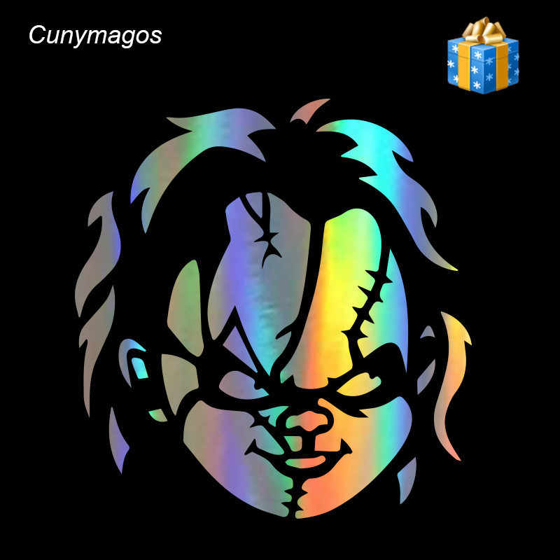 Chucky Motorfiets Auto Sticker Vinyl Decal Fashion Creative Auto Body Window Muur Auto Decal Vinyl Sticker Auto Styling 14.6*15.4 cm