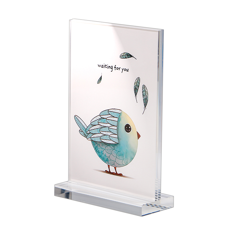 A6 Label Holder Frame Desk Sign Holder Plastic Poster Frame Desk Art Photo Display Rack Home Decor Picture Stand Menu Holder Refreshing And Beneficial To The Eyes Card Holder & Note Holder