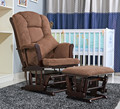 American Wood Rocking Chair Glider Rocker And Ottoman Set Living Room Furniture Luxury Comfortable Sliding Rocking Arm Chair
