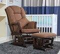 Cadeira De Balanço De Madeira cadeira de Balanço Planador E Otomano americano Conjunto de Móveis de Sala de estar de Luxo Confortável Cadeira De Balanço Do Braço Deslizante