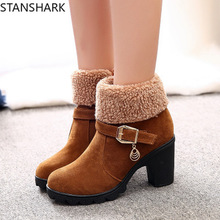 High Quality Autumn Winter Women Boots Solid Lace-up European Ladies Shoes Corduroy Ankle Zip Basic Round Toe Suede Leather Boot
