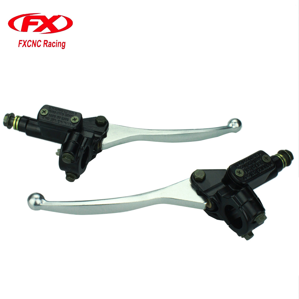 FX CNC 22mm Universal Motorcycle Brake Clutch Lever Master Cylinder For 50CC-250CC ATV Dirt Pit Bike Motorcycle Hydraulic Levers for 22mm 7 8 handlebar motorcycle dirt bike universal stunt clutch lever assembly cnc aluminum