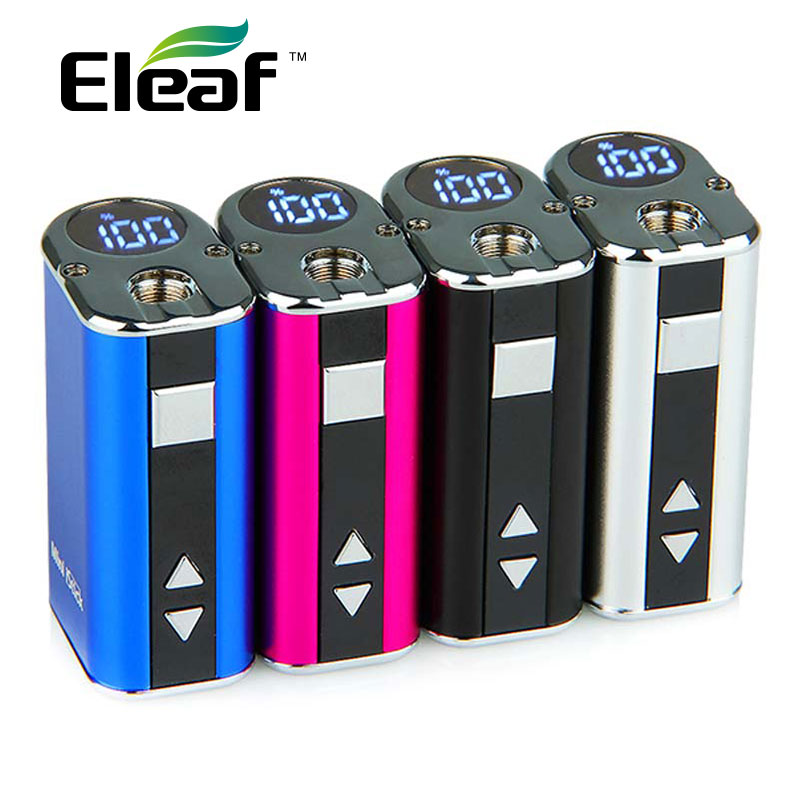 Istick mini 10w - Original 10W Eleaf iStick Mini Box Mod Portable 1050mah Battery with Top LED Digital Display Variable Voltage E Cigarettes