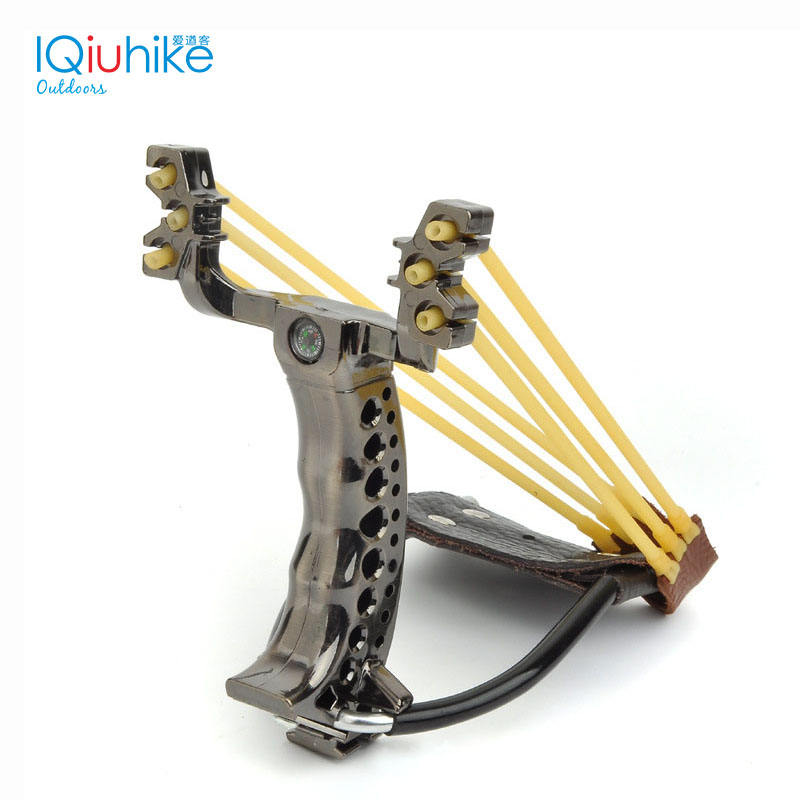 IQiuhike Outdoor Hunt Slingshot Stainless Steel Powerful Slingshot Hunting Catapult With Rubber Band Catapult Tactical Shot Set fronde puissant chasse catapult slingshot outdoor powerful sling shot 304 stainless steel wood slingshot outdoor hunting bow