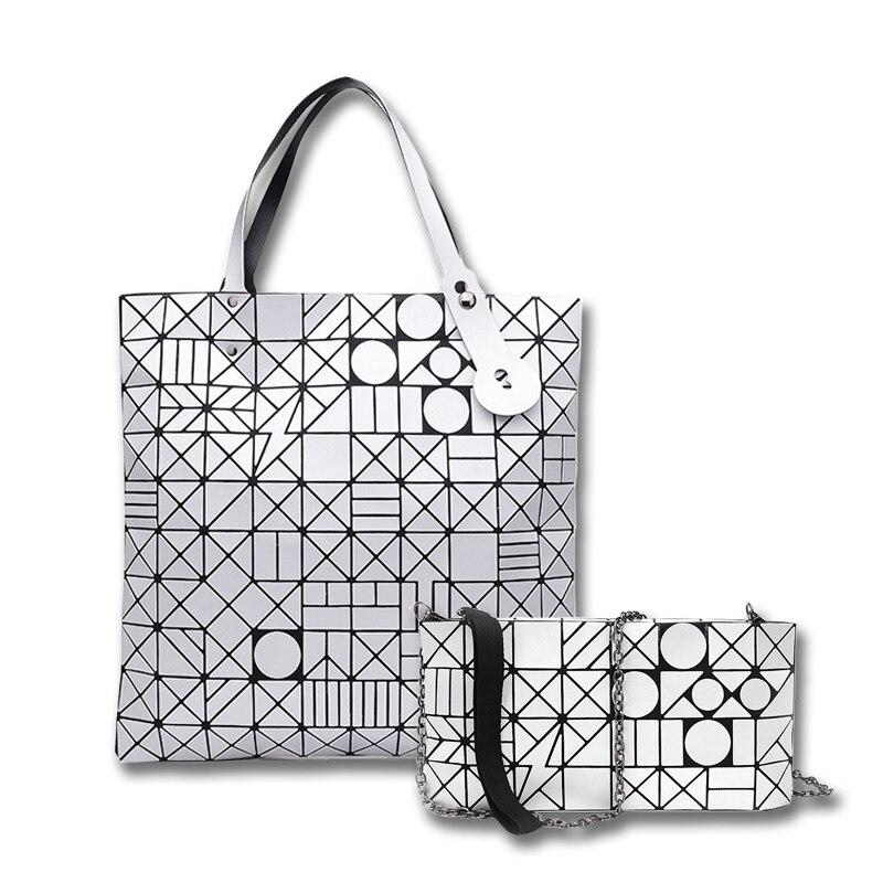 2017 New BaoBao Bag Women Laser BrightTote Bags Designer Brand Lady Geometry Diamond Lattice Fold Bao Bao Bag Hologram Handbags