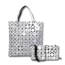 2017 neue BaoBao Tasche Frauen Laser BrightTote Taschen Designer Marke Dame Geometrie Diamantgitter Falten Bao Bao Tasche Hologramm Handtaschen