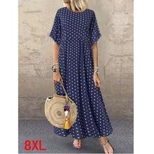 Large size women's dress plus size 4XL 5XL 7XL 8XL summer el
