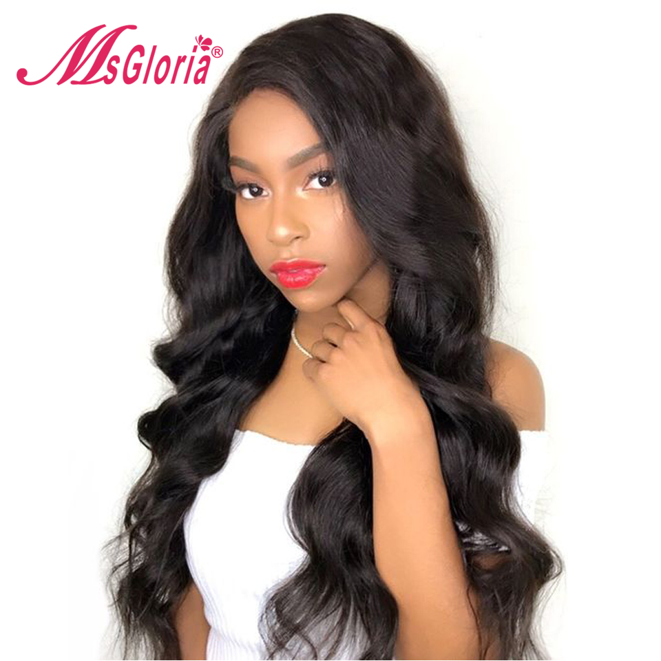 Msgloria Remy Hair Full Lace Human Hair Wigs Bleached Knots For Women Lace Front Hair Wigs