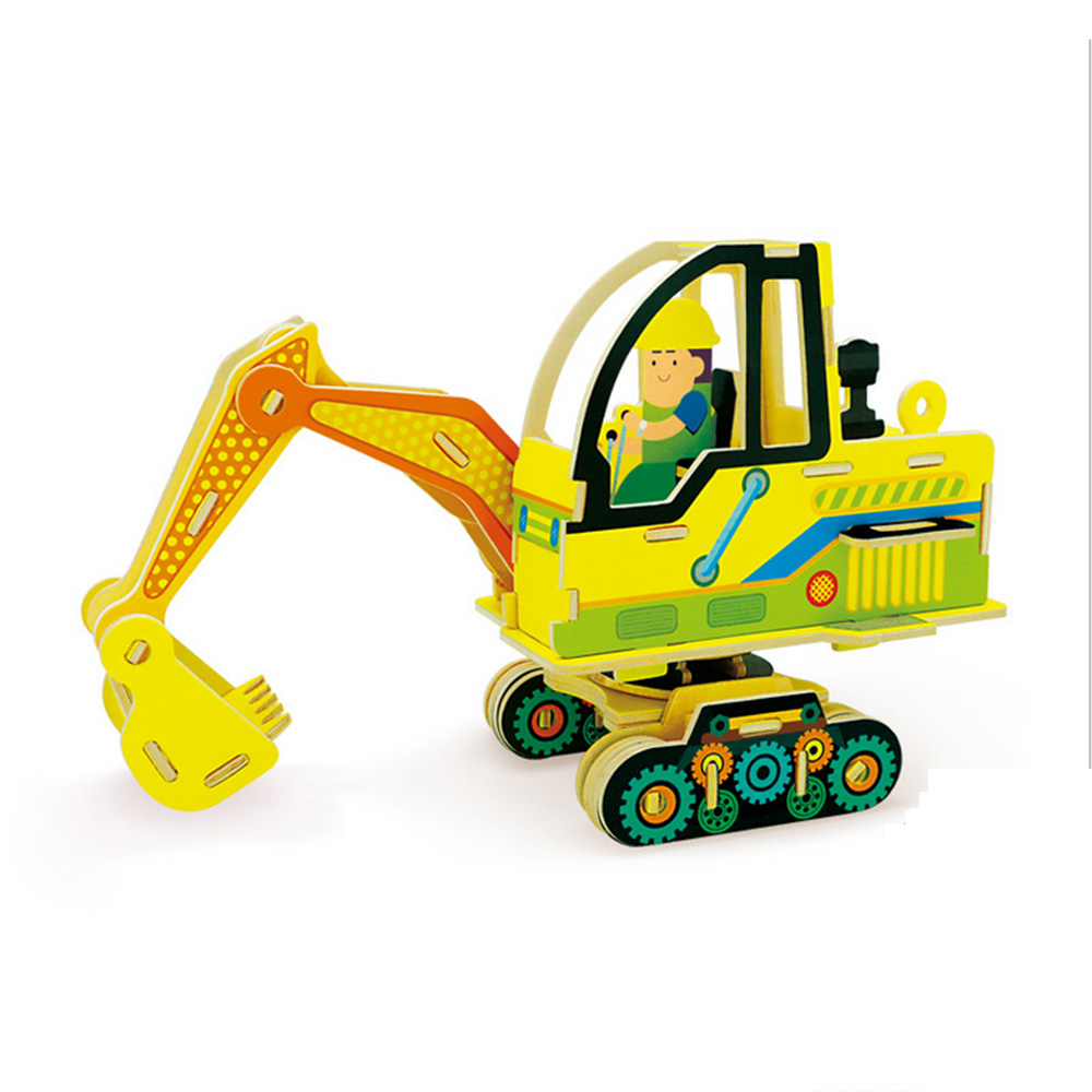 Toys For Games : Educational d model puzzle truck excavator wooden toys