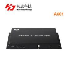 Huidu puerto usb de HD A601 a todo color caja de reproductor de Controlador led de modo Dual, async y sync, pantalla de vídeo led, tarjeta de control de 800x600 píxeles
