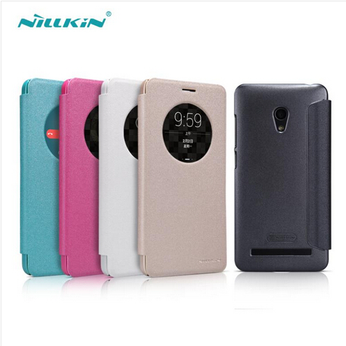 low priced 7b3bd 80a60 US $7.68 30% OFF|For Zenfone 5 Lite case NILLKIN Sparkle Series PU Flip  Leather Case For Asus ZenFone 5 Lite A502CG protective cover phone bags-in  ...