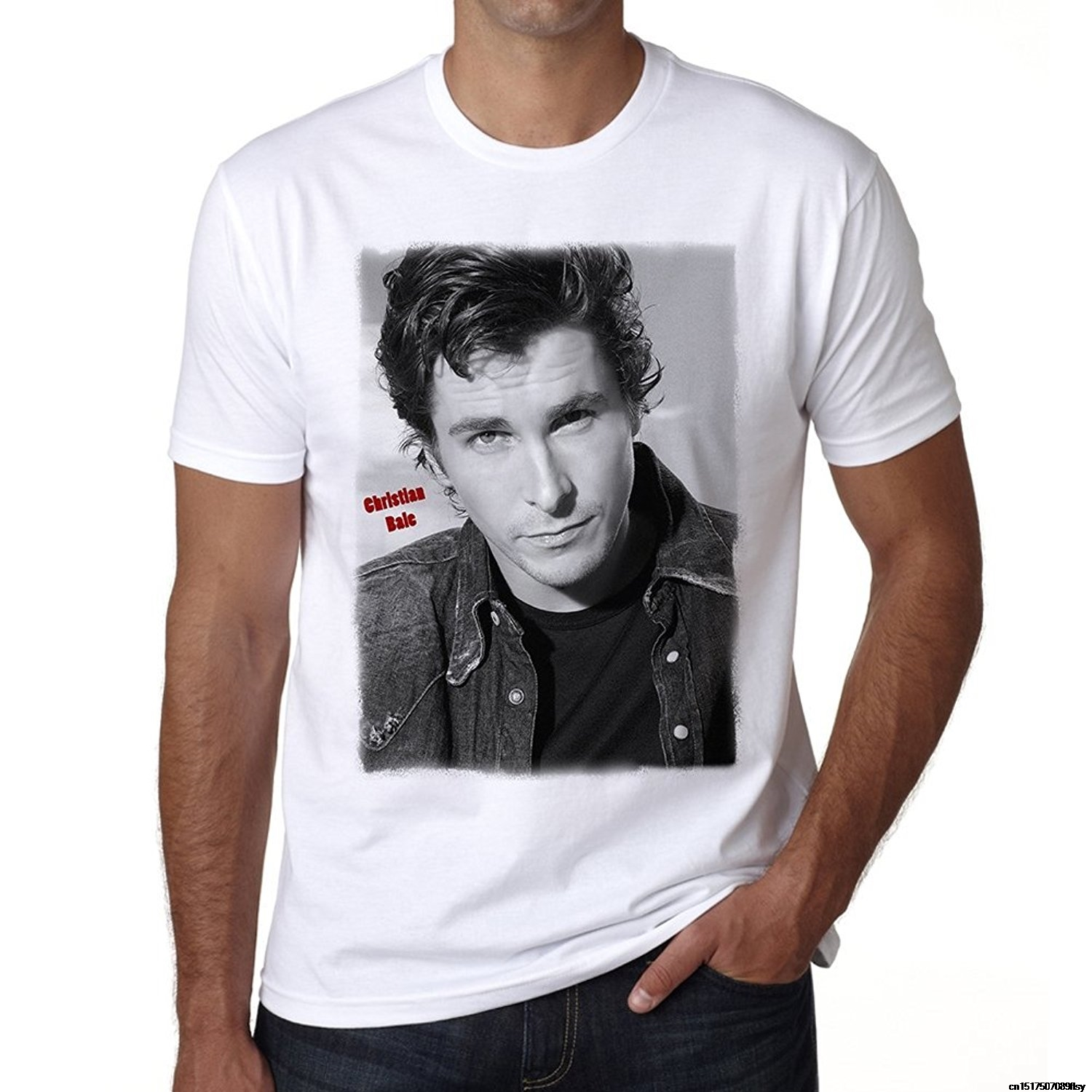 Adult Slim Fit T Shirt T Shirt Good Quality T Shirt Tops Christian Bale MenS T Shirt Celebrity Star One In The City