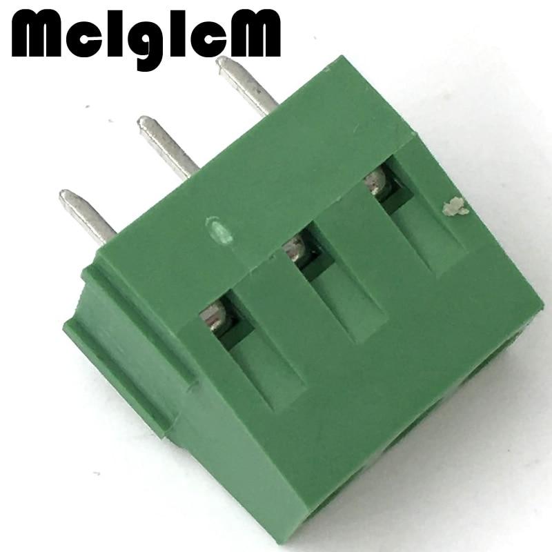 H031-05 200pcs KF128-3P DG128 5MM 300V 10A 5mm pitch connector pcb screw terminal block connector 3pin