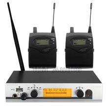 В ухо монитор беспроводной системы EW300 IEM один передатчик мониторинга Профессиональный для сценической производительности 2 приемника