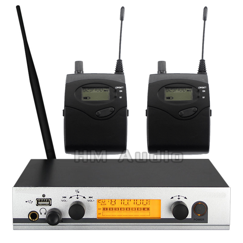In Ear Monitor Wireless System EW300 IEM Single transmitter Monitoring Professional for Stage Performance 2 receivers 6 pack receivers wireless in ear monitor system professional dual channels transmitter sr 2050 iem