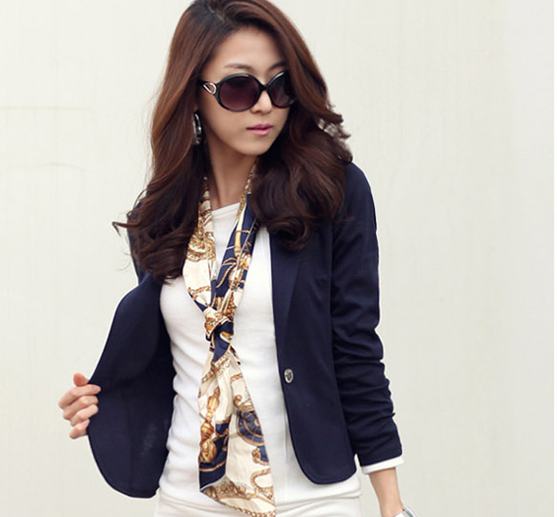 caa1a83b26 Casual Women Short Blazer Jacket Suit Slim Coat New Winter Autumn Blazer  Feminino Female Fashion Lady Outwear Cardigan RY1638-in Blazers from Women's  ...