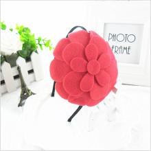 2014 Fashion Young Girls Hairbands with big colored flower  Personality chrysanthemum Hair Accessory 10pcs/lot