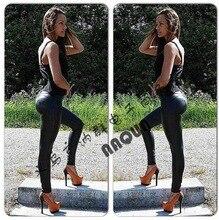 2016 New Style Women's Low Waist Leggings Sexy Hip Push Up Pants Legging Jegging Gothic Leggins Casual Long Trousers  DDK03