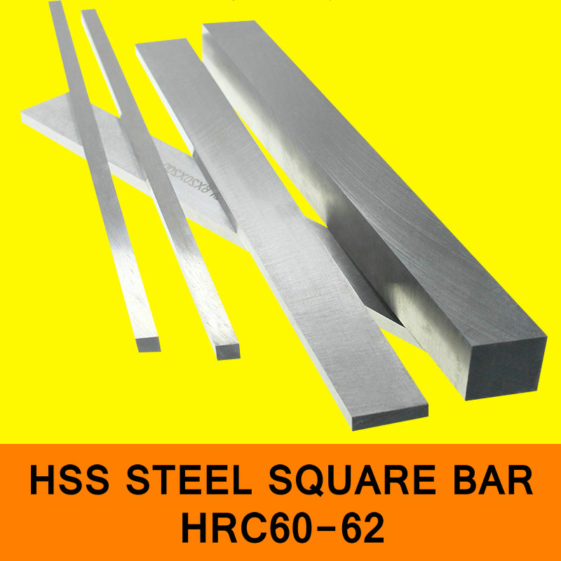 HSS Steel Plate HRC60 to HRC62 Steel Sheet Turning Tool High Speed Steel Rectangular HSS Steel Bar Lathe Tool CNC Milling Cut 3 2mm x 100mm hss straight machine turning tool round lathe bar rod stick 10pcs