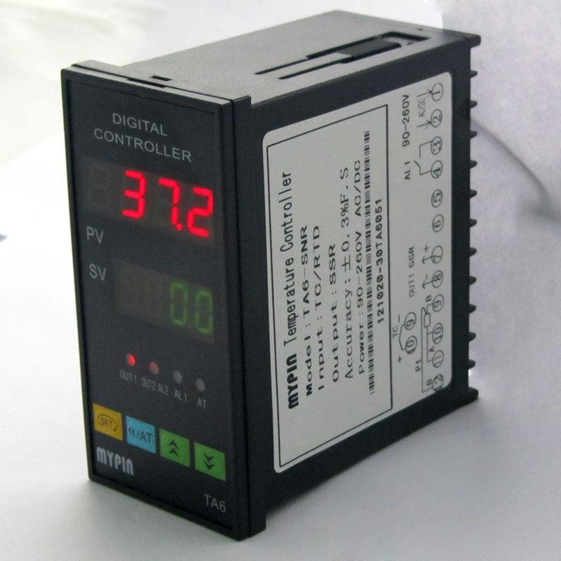 Dual Digital PID TC/RDT Temperature Controller TA6-VRR 0-10V  2 relay ouput hiper vrr