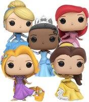 Funko pop Oficial Beauty and the beast Princesa: Ariel, Belle, cinderela, Rapunzel, Tiana Vinyl Figure Collectible Modelo Toy