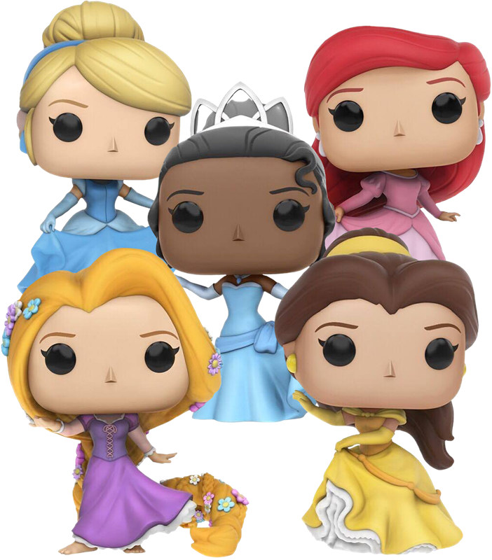 Funko pop Official Beauty and the beast Princess: Ariel, Belle, Cinderella, Rapunzel, Tiana Vinyl Figure Collectible Model Toy 5pcs lots 2017 film extraordinary corps mecha five beast hand collection model toy