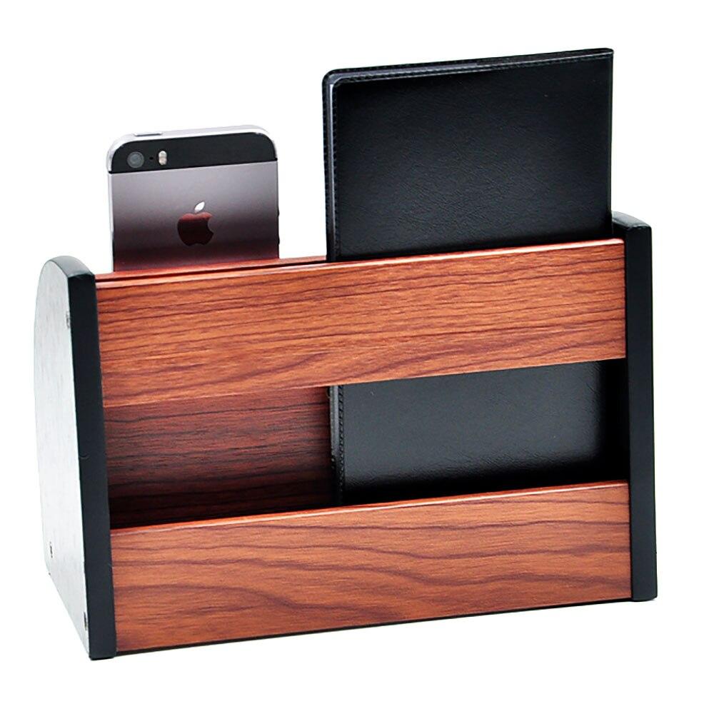 Holz Multifunktionale Desktop Schreibwaren Aufbewahrungsbox Stift Storage Keranjang Multifungsi Box Organizer Wooden Multifunctional Stationery Pen Pencils Holder New