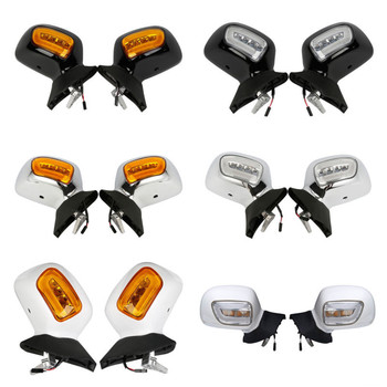 Motorcycle Rear View Mirror W/ LED Turn Signals For Honda Goldwing Gold wing 1800 GL1800 2001-2012 2011 2010 2009 2008 2007 2006
