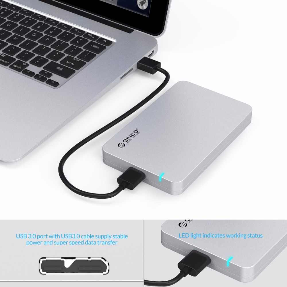 オリコ 2569S3 2.5 インチ USB 3.0 外部ハードドライブのエンクロージャ SATAIII 5 5GBPS UASP スーパースピードツール送料 sata HDD と SSD
